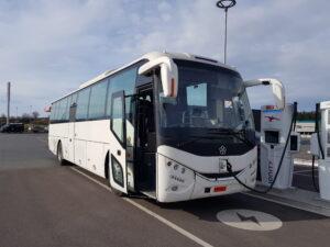 Electric tour coach charging